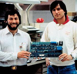 Steve Jobs et Wozniak en 1976