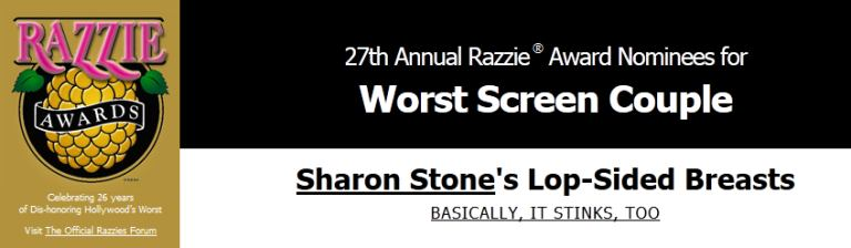 Sharon Stone, Razzie Awards