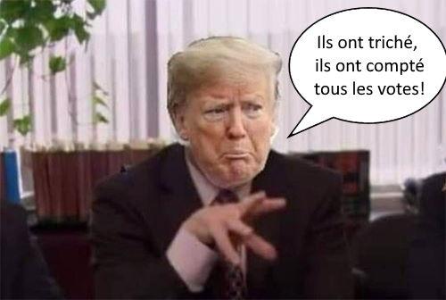 Trump découvre les résultats des élections 2020