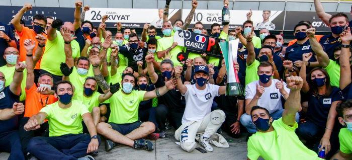 Monza 2020 l'équipe célèbre la victoire