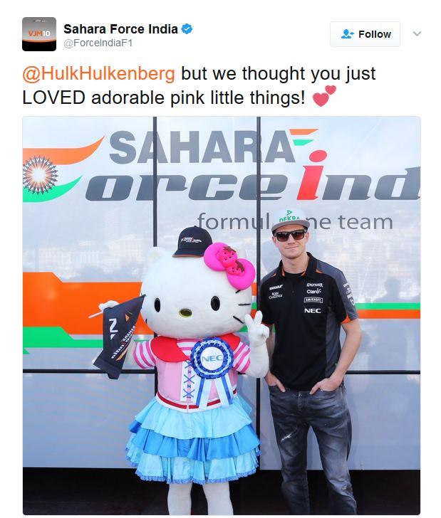 Force India répond à Hulkenberg