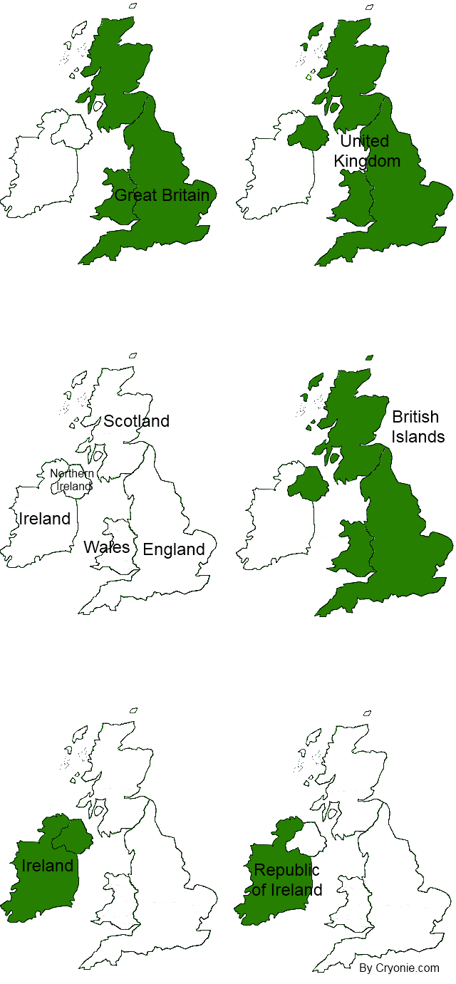 Map Of England Great Britain.Great Britain Vs United Kingdom