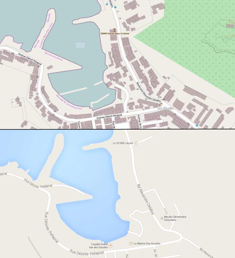 OpenStreetMap vs. Google Map