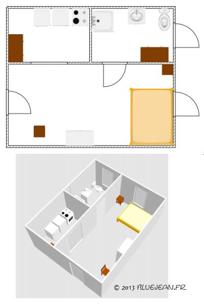 Stunning related article with plan amenagement studio 25m2 for Plan amenagement studio 25m2