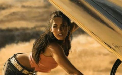 Megan Fox en speed painting