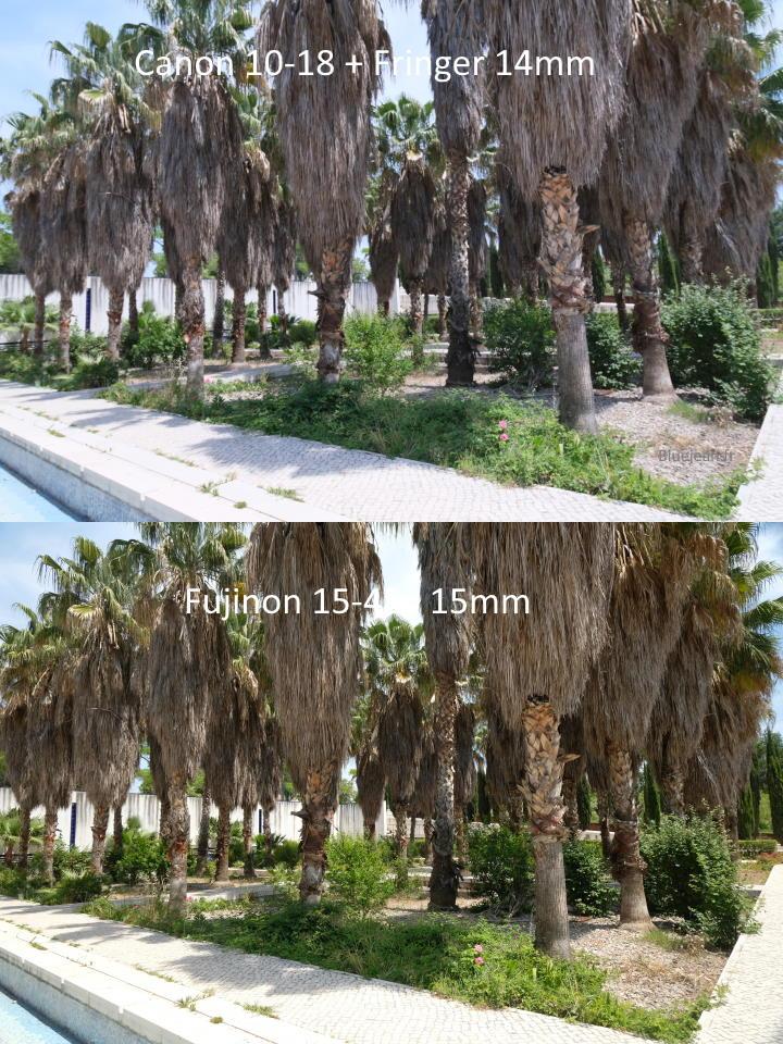 Fujinon 14-45 vs Canon 10-15 angle de vision