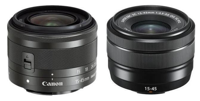 Canon et Fujifilm 15-45mm