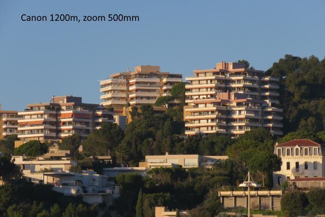 Immeubles, photo prise avec le Canon SX60 en zoom 25x
