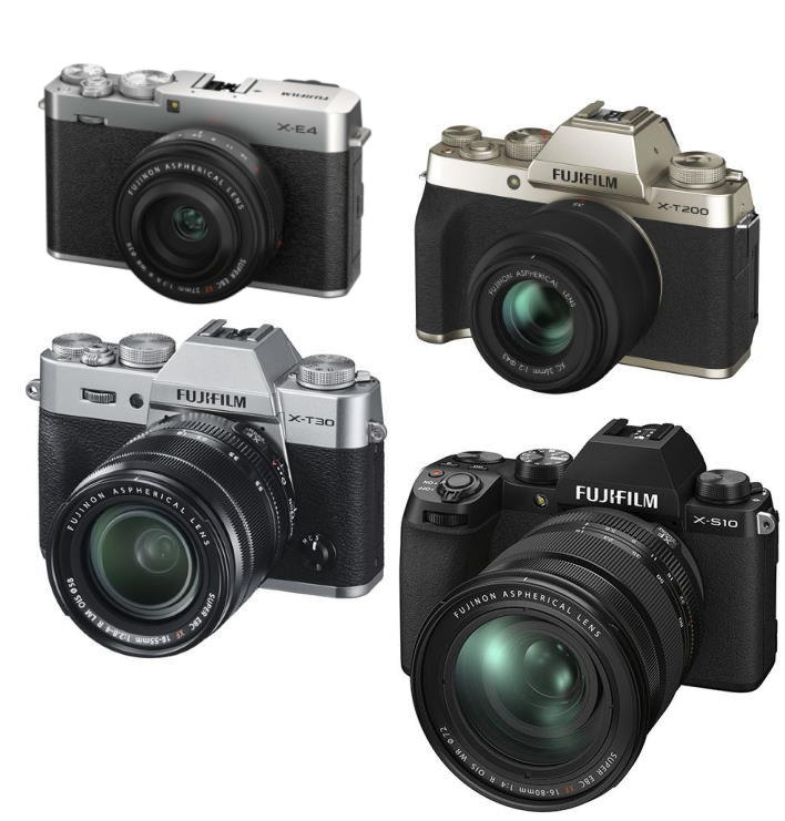 Fuji X-E3, X-T200, X-S10, X-T30